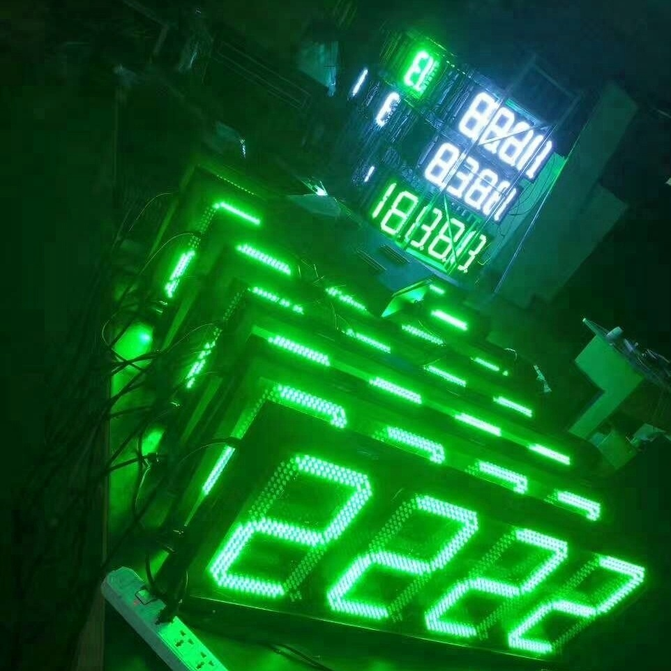 Hidly Big Size 24'' Yellow Led Digit Display Board With Rf
